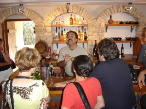 Tasting room for Comandaria wine in Cyprus