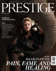 Sharon Stone Prestige magazine cover