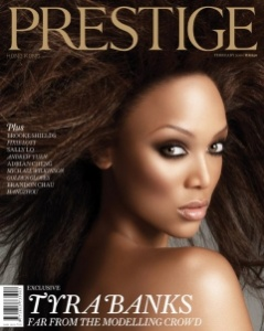 Tyra Banks Prestige cover