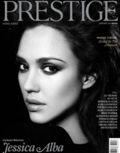 Jessica Alba Prestige cover