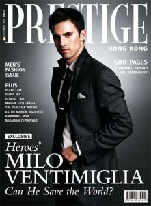 Milo Ventimiglia Prestige Cover