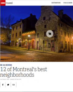 CNN Travel article on Montreal's best neighborhoods