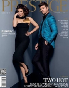 Paula Patton and Robine Thicke Prestige cover
