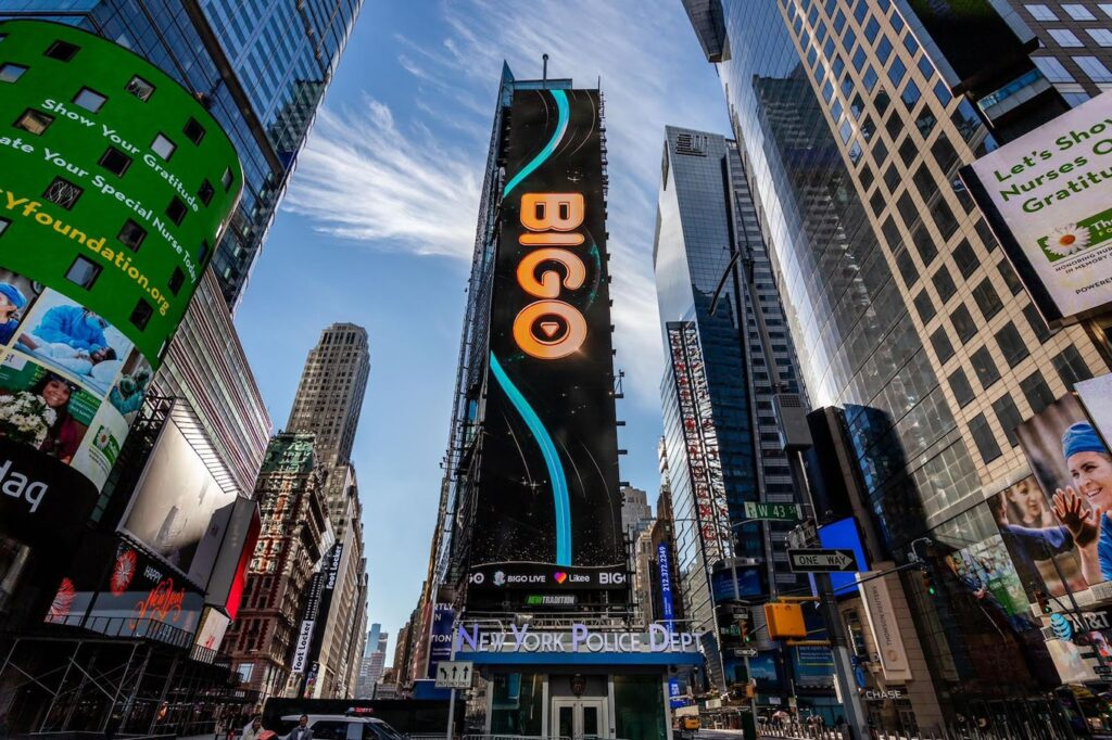 Times Square with Big O logo